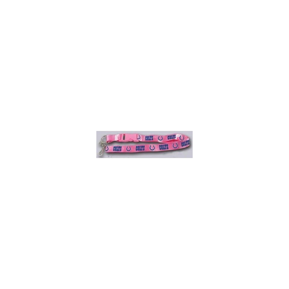 Indianapolis Colts Breakaway Lanyard with Key Ring   Pink