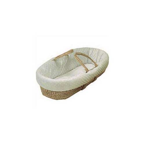 Baby Doll Bedding Heavenly Soft Moses Basket, Ivory from BabyDoll Bedding