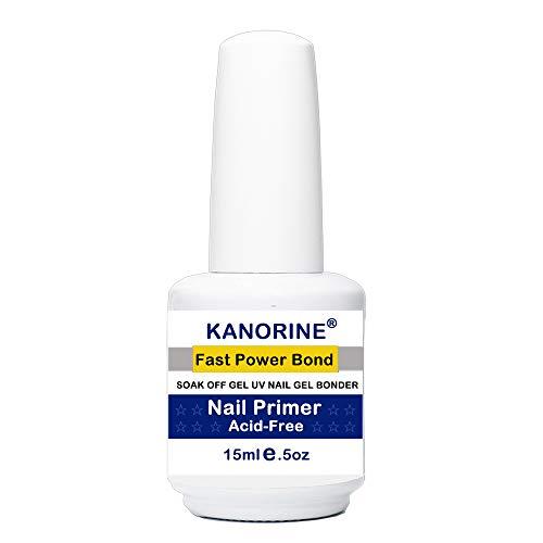 - Kanorine non-acid Natural Nail Primer/Acrylic Nails Primer,Gel Power bonder Agent for all uv/led gel nail polish Bonder Nail Tech Essential Primer 15ml