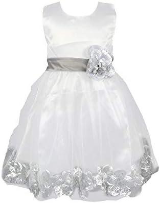 LMRYJQ - Vestido de Fiesta para niña, Largo hasta la Rodilla ...