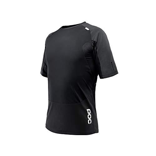 POC - Resistance Pro DH Tee, Mountain Biking Apparel, Carbon Black, XL