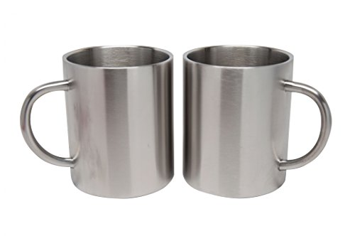 2 Pack Stainless Steel 15 Oz Double Walled Camping Cups 100% BPA Free Metal Mugs Outdoor Camp Cookware Military Surplus BBQ Hunting Accessories Bar BQ 4 Inch by Xena Intelligent Security (Image #1)