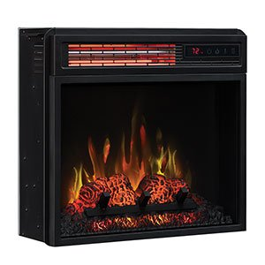 Classic Flame 18-in SpectraFire Infrared Electric Fireplace Insert - 18II332FGL (Flame Electric Classic Infrared Fireplace)