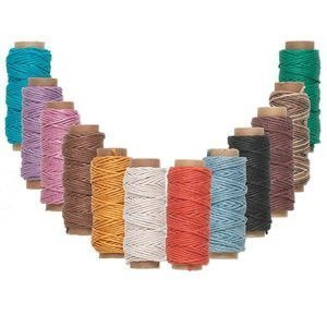 Hemp Bead Beading Twine Cord - Hemptique Hemp Cord Twine 1 mm 12 Mini Spool Color Mix
