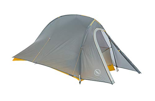 Big Agnes Fly Creek HV UL1 Bikepack - Ultralight Bike-Packing Tent, 1 Person, Gray/Gold