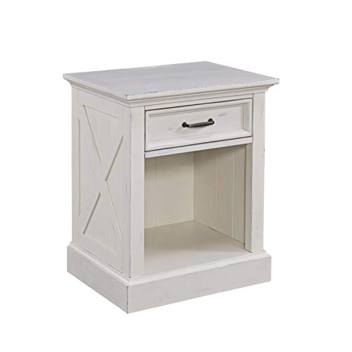 Seaside Lodge White Night Stand by Home -