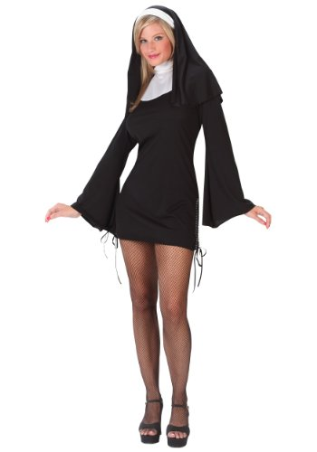 [Naughty Nun Sexy Women's Costume] (Nun Costume Headpiece)