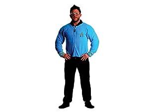 Star Trek Sciences Blue Footed Adult Onesie Pajamas