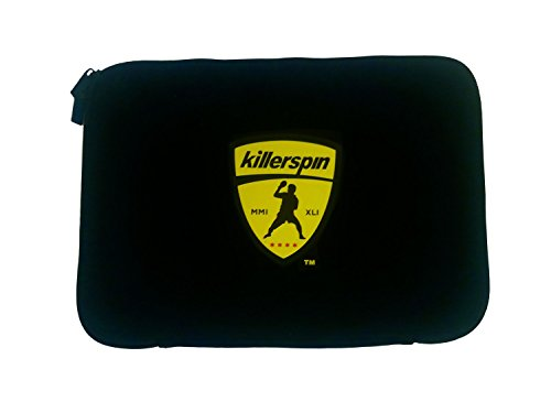 Killerspin Black sleeve Table Tennis Paddle Bag - Ping Pong Case for 4 Paddles Secured With Elastic Fastener by Killerspin
