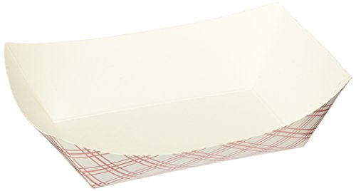Green Point Paper Food Tray 50/ct. 1 lb., Red/White