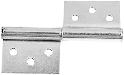 Stainless Steel 7.6cm Door Hinge Silver Tone Hardware