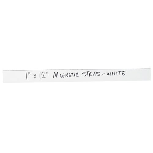 RetailSource LH170 1 x 2 White Warehouse Labels 1 Length Magnetic Strips 0.03 Thick 2 Height Pack of 25
