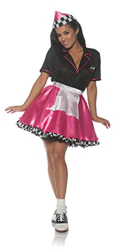 Underwraps Women's 1950s Car Hop Costume-Pink, Large