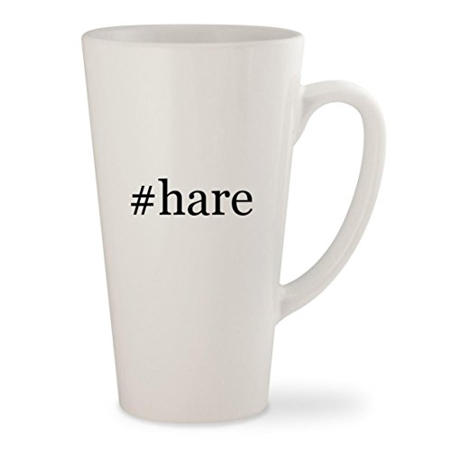 #hare - White Hashtag 17oz Ceramic Latte Mug (Burke And Hare Costume)