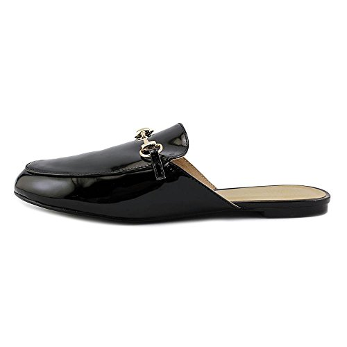 Wanted Bitman Round Toe Synthetic Mules Black Patent