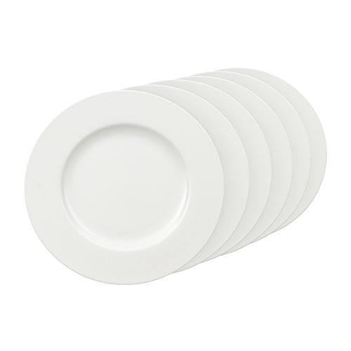 (Villeroy & Boch Royal Dinner Plate 27cm Premium Bone Porcelain 6Units, White, 6)