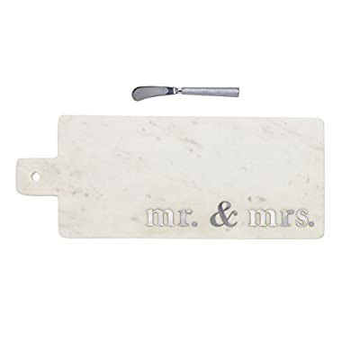 Mud Pie 4755034 Serving Board, One Size, White