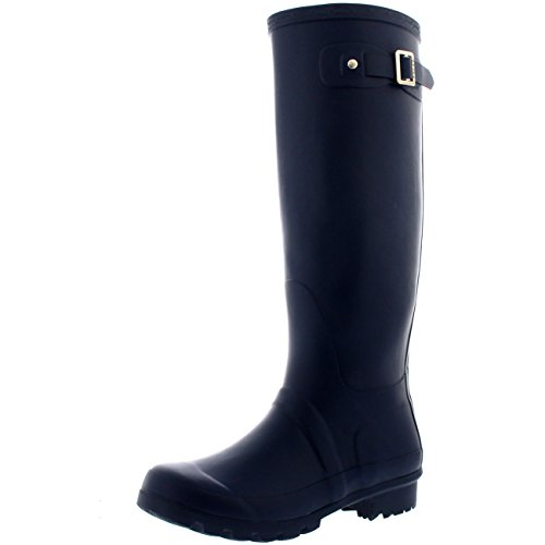 Womens Original Tall Snow Winter Waterproof Rain Wellies Wellington Boots - 9 - NAO40 BL0207