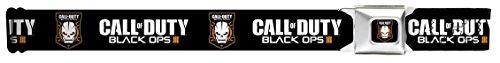 Buckle-Down Seatbelt Belt - CALL OF DUTY-BLACK OPS III/Skull Icon Black/White/Orange - 1.5