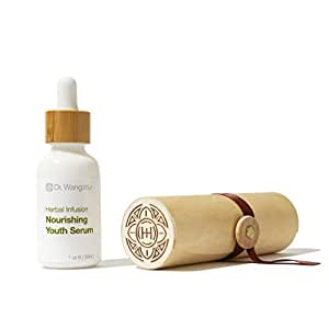 Dr. Wang Nourishing Youth Serum, 97% Natural, Safe, Gentle and Effective. Formulated by Dermatologist and Herbalist, Parabens Free, No Synthetic Fragrance, No Mineral Oil, No Petrolatum, 1oz
