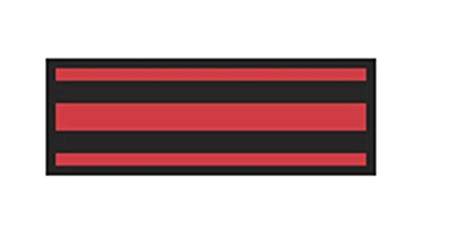 Aspen Surgical 153004EEA I.D. Sheet Tape, Stripe, 8 1/2'' x 11'', Black on Red by Aspen Surgical