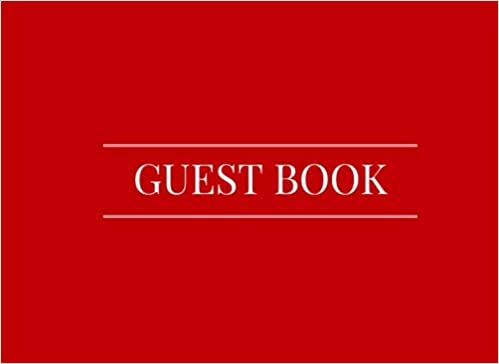 Guest Book  Red - Airbnb f9c8fc17adde