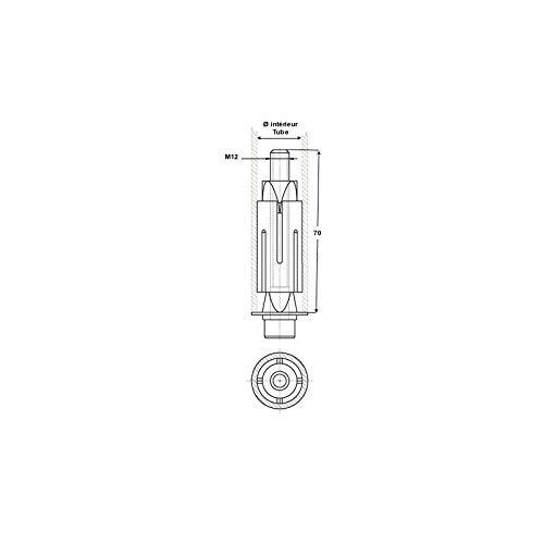Douille expansible pour tube rond de 31 /à 35 oeil de 12 mm