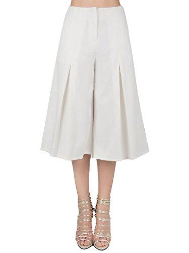 CHOiES record your inspired fashion Womens Black/White High Waist Plain Wide Leg Palazzo Capri Pants