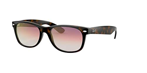 Ray-Ban RB2132 NEW WAYFARER 710/S5 55M Havana/Clear Violet Gradient Sunglasses For Men For Women