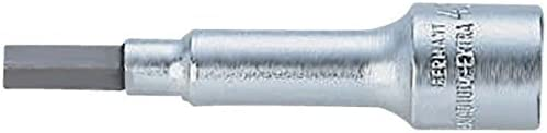 Bahco A6709M-4 BHA6709M-4 1//4-Inch Socket Driver Long for Hex Head Screws Silver 4 mm