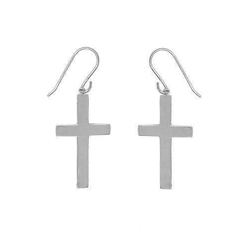 Sterling Silver Cross Earrings by Beaux Bijoux
