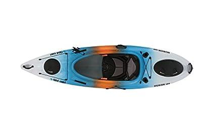 58193 Third Coast Huron 100 Sit In Angler Kayak (Blue/White/Orange) from KL Industries
