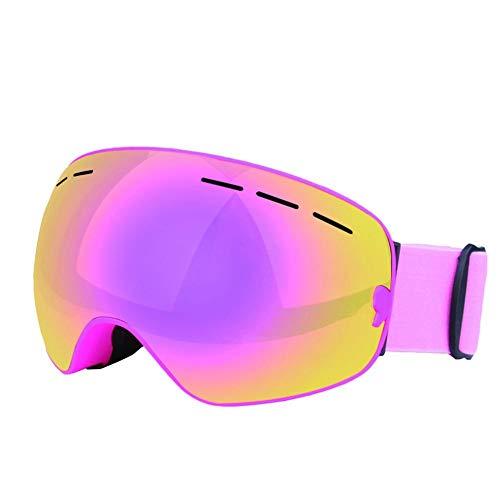 FANMURAN Gafas de esquí de Invierno Snowboard Gafas con protección de Doble Capas UV Anti-vaho para el esquí Hombres Mujeres La miopía de Motos de Nieve