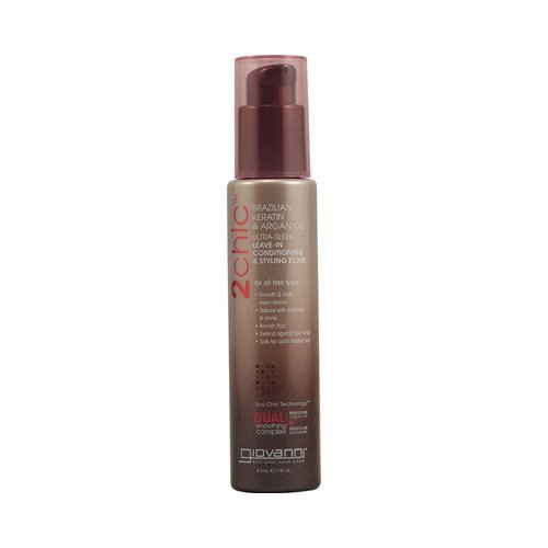 Giovanni 2chic Ultra-Sleek Leave-In Conditioning & Styling Elixir 4 fl oz - Direct Giovanni Leave Conditioner In