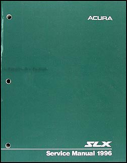 1996 Acura SLX Repair Shop Manual Original