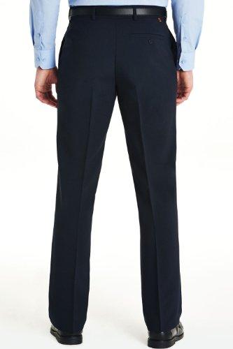 Hommes Farah Slant Poche Formelle Pantalon Classique Bleu 46W x 29L