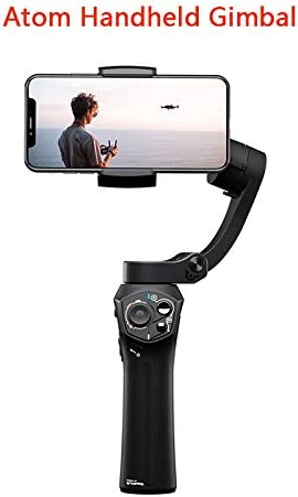ROWEQPP 3-Axis Foldable Pocket-Sized Handheld Gimbal Stabilizer Replacement for iPhone X Huawei Smartphones Compatible with GoPro
