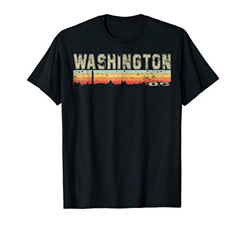 Retro Vintage Washington D.C Skyline Silhouette