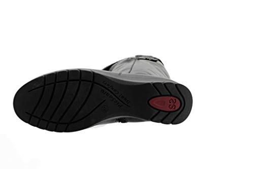 Negro 185980 Piel Mujer Bota Piesanto Zapato Xl Cómodo wCFqII
