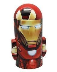 Marvel Avengers  Iron Man  Collectible Tin Can Coin Bank   Avengers Grab Bag  Rubber Ball  Youth Beanie