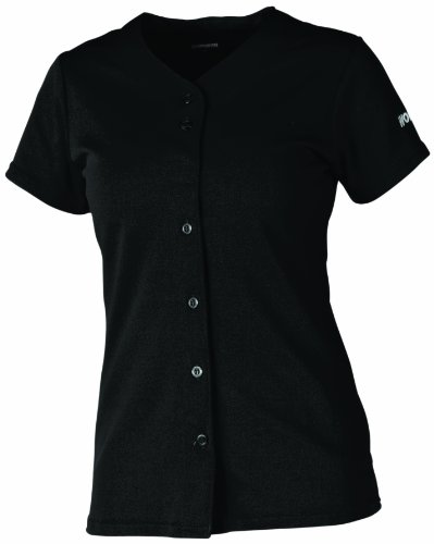 Girls Full Button Jersey (Worth Fpxfbjg Girl's Full Button Jersey (Black, Small))