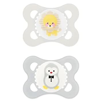 Amazon.com: MAM animales 0 – 6.6 yard 2-Pack chupetes en ...
