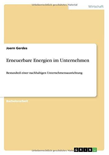 Erneuerbare Energien im Unternehmen (German Edition)