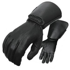 Olympia 146 Deerskin Lined Classic Motorcycle Gloves (Black, Large)