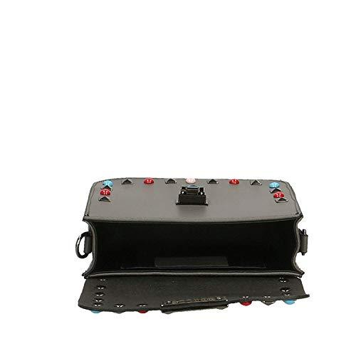 tracolla tracolla Grigio da Dimensione Piccola Mud Made Light Pochette donna in Colore Cm 18x15x7 Italy Vera pelle con HTtWTXU