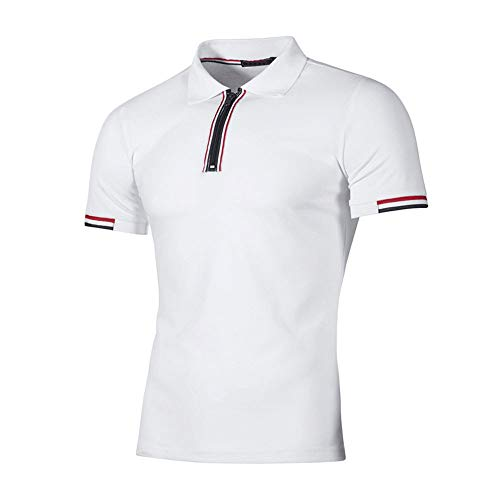 - Vickyleb Golf Shirts for Men - Dry Fit Short-Sleeve Polo, Athletic Casual Collared T-Shirt White