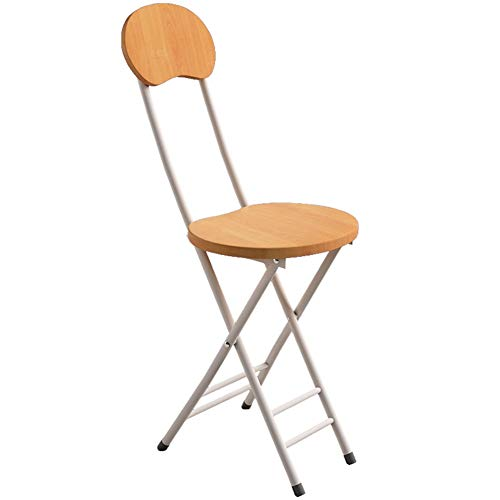 (ZHAOYONGLI Folding Chairs,Chairs Chairs Triple Braced Metal Folding Chair Seating Double Brace Stackable Round Stool Durable Strong (Capacity : Bamboo Grain, Size : 254575cm) )