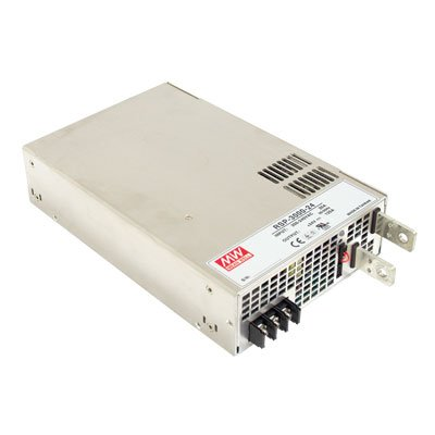 "Mean Well RSP-3000-48 Enclosed Switching AC-to-DC Power Supply, Single Output, 48V, 0-62.5A, 3000W, 2.5"" H x 7.0"" W x 10.9"" L"