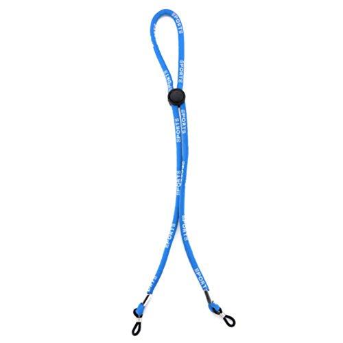 2Pcs Anti-Skid Glasses Chain | Glasses Strap | Retainer, Adjustable Sports Glasses Soft, Skin-Friendly Nylon Fixation Belt, Floating Sunglasses Lanyard Glasses Neck Cord (Blue) (Sonnenbrille Lanyard)