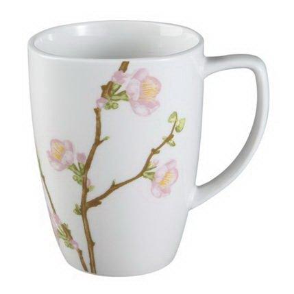 Corelle Square 12-ounce Porcelain Mug, Cherry - Square Oz Corelle Mug 12